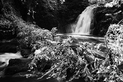 Gleno Or Glenoe Waterfall Beauty Spot County Antrim Northern Ireland Art Print by Joe Fox