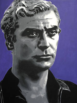 Caine Painting - - Michael Caine - by Luis Ludzska