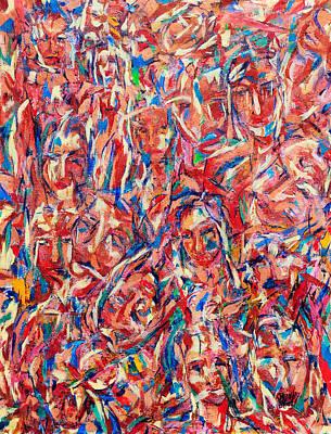 100 Mujeres 08 Art Print by Bradley Bishko