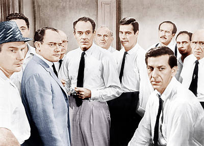 Incol Photograph - 12 Angry Men, Aka Twelve Angry Men by Everett