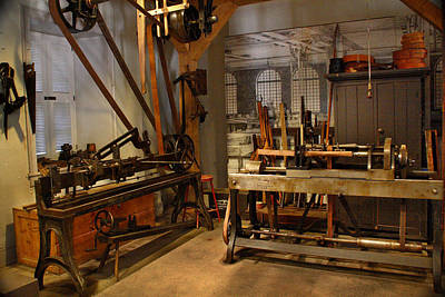 Photograph - 18th Century Machine Shop by Judi Quelland