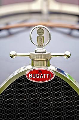 1923 Bugatti Type 23 Brescia Lavocat Et Marsaud Hood Ornament  Art Print by Jill Reger