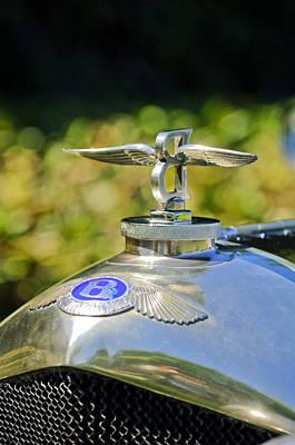 Photograph - 1927 Bentley 6.5 Liter Sports Tourer Hood Ornament by Jill Reger