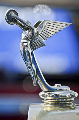 Photograph - 1928 Isotta Fraschini Tipo 8as Landaulet Hood Ornament by Jill Reger