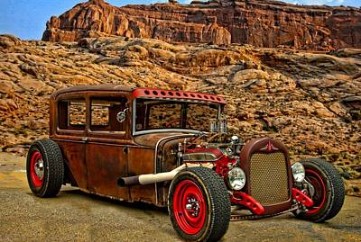 Photograph - 1930 Ford Sedan Rat Rod by Tim McCullough