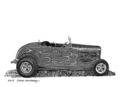 1932 Ford Hi Boy Hot Rod Art Print by Jack Pumphrey