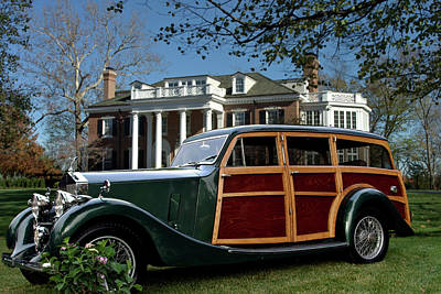 Photograph - 1937 Rolls Royce Chassis Shooting Brake by Tim McCullough