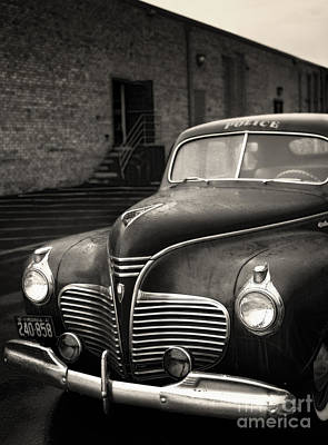 1941 Plymouth Police Car Art Print by Susan Isakson
