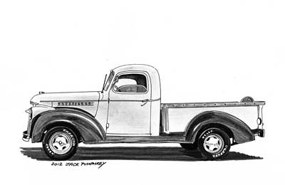 1946 Chevrolet Pick Up Art Print by Jack Pumphrey