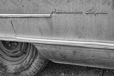 Photograph - 1951 Nash Ambassador Side Logo by James BO Insogna