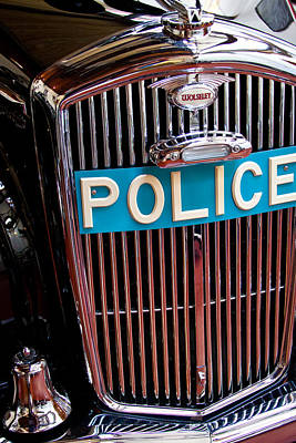 Police Car Photograph - 1954 Wolseley 6 80 Police Car by David Patterson