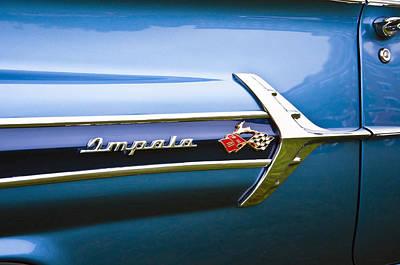 Photograph - 1960 Chevrolet Impala Emblem by Glenn Gordon