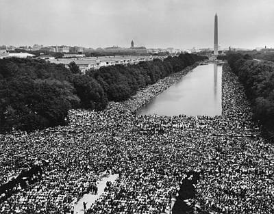Discrimination Photograph - 1963 March On Washington. A View by Everett