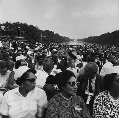 1963 March On Washington. Crowd Print by Everett