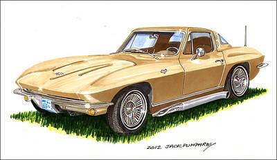 1964 Corvette Art Print by Jack Pumphrey