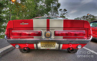 Stock Muscle Photograph - 1965 Shelby Gt 500 In Red by Lee Dos Santos
