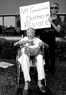 Politics Photograph - 2000 Presidential Election My Grandmother Deserves A Revote by Michael Dubiner