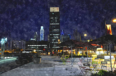 30th Street Station Plaza Art Print