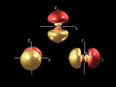 3p Electron Orbitals Art Print by Dr Mark J. Winter