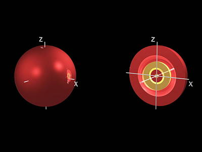 4s Electron Orbital Art Print by Dr Mark J. Winter