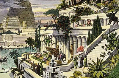 Photograph - Hanging Gardens Of Babylon by Photo Researchers