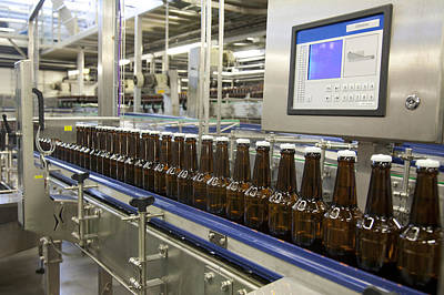 Material Glass Photograph - A Brewery And Bottling Plant In Estonia by Jaak Nilson