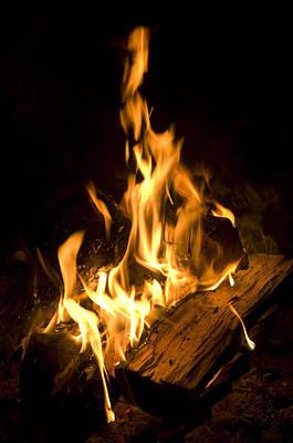 A Campfire In Halsey, Ne Art Print by Joel Sartore