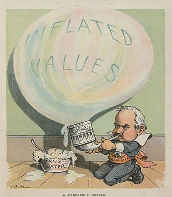A Dangerous Bubble 1902 Cartoon Art Print