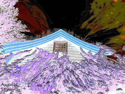 Digital Art - A Flowery House In Norway by Augusta Stylianou