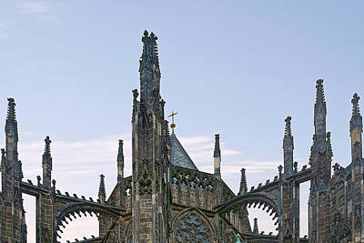Photograph - A Forest Of Spires - St Vitus Cathedral Prague by Christine Till