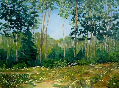 Painting - A L'oree Des Bois by Liliane Fournier