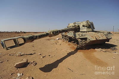 A M109 Howitzer Destroyed By Nato Art Print