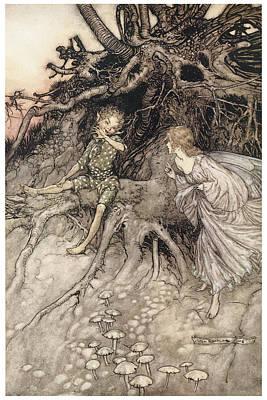 A Midsummer Night's Dream Art Print by Arthur Rackman