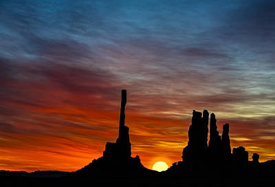 Photograph - A New Day At The Totem Poles by Susan Candelario