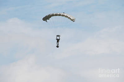 Air Component Photograph - A Paratrooper Of The Belgian Army by Luc De Jaeger