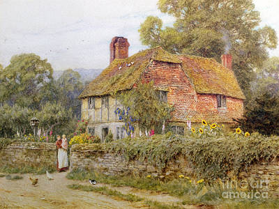 A Surrey Cottage Art Print by Helen Allingham