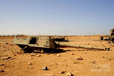 A Tracked Artillery Vehicle Destroyed Art Print