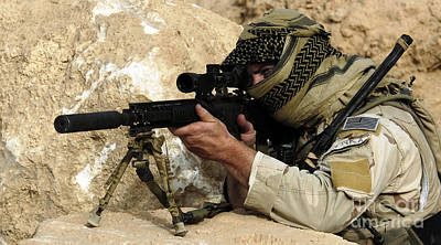 Photograph - A U.s. Special Forces Soldier Armed by Stocktrek Images