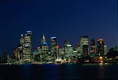 Sydney Skyline Photograph - A View Across Sydney Harbour by Medford Taylor