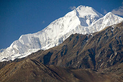 A View Of Dhaulagiri From The North Art Print by Stephen Sharnoff