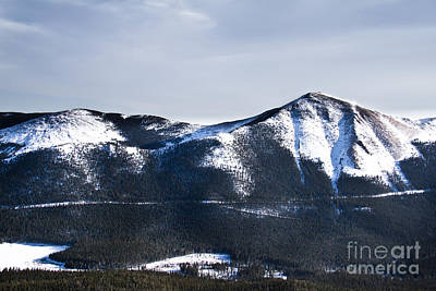 A View Of Snowy Mountains From Pikes Peak Art Print by Ellie Teramoto