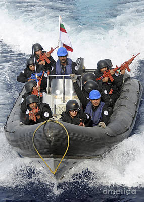 Inflatable Photograph - A Visit, Board, Search And Seizure Team by Stocktrek Images