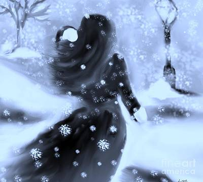 A Winters Walk Art Print by Lori  Lovetere