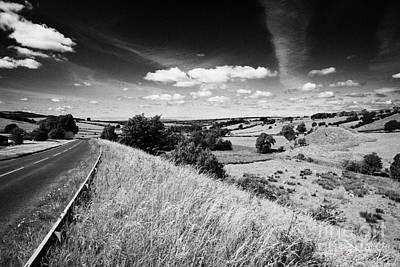 Carriageway Photograph - A71 Single Carriageway Through The Irvine Valley Scotland Uk United Kingdom by Joe Fox
