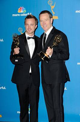 Aaron Paul Photograph - Aaron Paul, Bryan Cranston In The Press by Everett