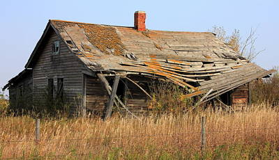 Abandoned Alberta Prairie Home Art Print by Jim Sauchyn