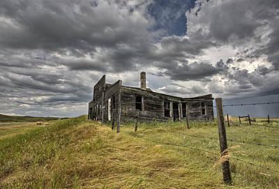 Haunted House Digital Art - Abandoned Farmhouse Saskatchewan Canada by Mark Duffy