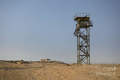 Abandoned Watchtower In The Desert Art Print by Noam Armonn