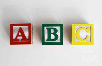 Abcs Art Print by Photo Researchers, Inc.