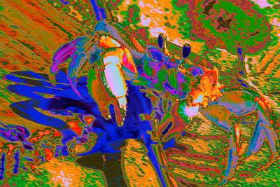 Abstract Crab 2 Art Print